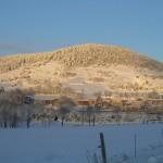 Le mont Briançon sous la neige