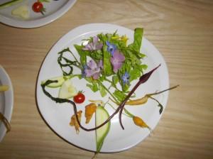 minis-légumes et fleurs